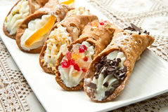Sicilian cannoli Royalty Free Stock Photography