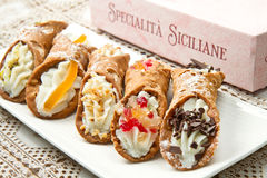 Sicilian cannoli Royalty Free Stock Image