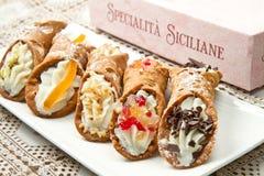 Sicilian cannoli Royalty Free Stock Image