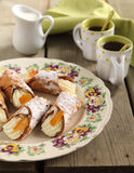 Sicilian cannoli Stock Images