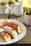 Sicilian cannoli. Italian traditional dessert stock photography