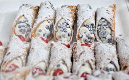 Sicilian cannoli Royalty Free Stock Photo