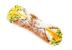 Sicilian Cannoli isolated on white background, traditional itali Royalty Free Stock Photo