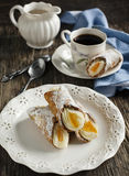 Sicilian cannoli with orange. Stock Image