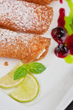 Sicilian cannoli Stock Photos