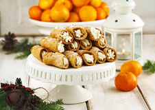Sicilian cannoli Royalty Free Stock Photos