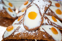 Sicilian cannoli. typical sicilian sweet Stock Photography