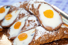 Sicilian cannoli. typical sicilian sweet Royalty Free Stock Image
