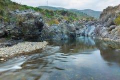 Sicilian canyon Royalty Free Stock Photos