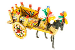 Sicilian cart model Stock Images