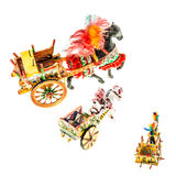 Sicilian carts collection Stock Image