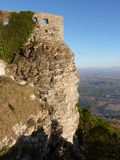 Sicilian castle at Erice Stock Images