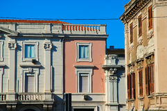 Sicilian city buildings stock photography