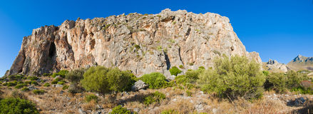 Sicilian cliff. Stock Photography