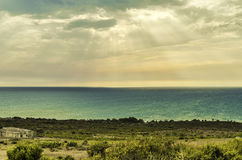 Sicilian coast at the height of selinunte Royalty Free Stock Photo