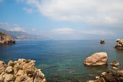 Sicilian coast. Royalty Free Stock Image