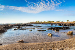 Sicilian coast (Italy). A beautiful day in early summer on the west coast of Sicily (Italy). The beautiful Sicily, with its temperate climate, it offers a Royalty Free Stock Photo