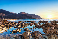 Sicilian coast (Italy). A beautiful sunny day in early summer on the west coast of Sicily (Italy). The beautiful Sicily, with its temperate climate, it offers a Stock Images