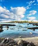 Sicilian coast (Italy). A beautiful sunny day in early summer on the west coast of Sicily (Italy). The beautiful Sicily, with its temperate climate, it offers a Stock Photo