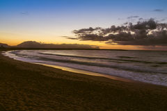 The Sicilian coast at sunset Royalty Free Stock Photos