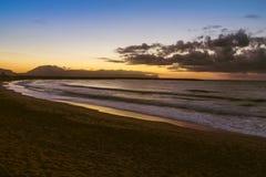 The Sicilian coast at sunset. The beautiful Sicilian coast at sunset Royalty Free Stock Photos