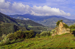 Sicilian countryside on the north coast stock image