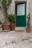 Sicilian courtyard; cortile siciliano Royalty Free Stock Photo