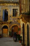Sicilian courtyard. Sicily, Italy, old ruined courtyard, home stock images