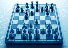 Sicilian defense in chess game Stock Images