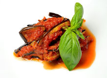 Sicilian eggplant recipe Royalty Free Stock Photos