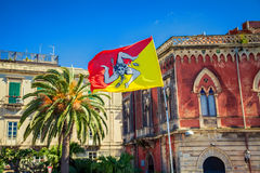 Sicilian flag Royalty Free Stock Images