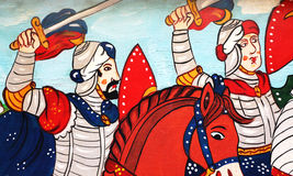 Sicilian folk art, paintings of chariots, paladins Royalty Free Stock Photos