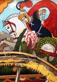 Sicilian folk art, paintings of chariots, paladins Stock Image