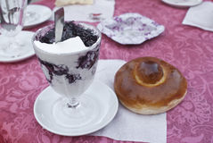 Sicilian granita and brioche Stock Photos