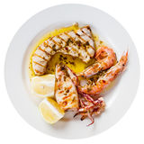 Sicilian grilled fish mix Stock Image