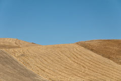 Sicilian hills. Crop's hills in sicily after the harvest stock photos