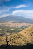 Sicilian Hinterland And Volcano Etna Stock Photography
