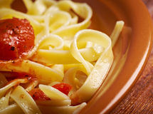 Sicilian homemade   pasta  Fettuccine Stock Image