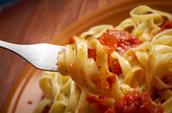 Sicilian homemade   pasta  Fettuccine Stock Photography
