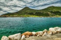 The Sicilian Island of Favignana stock images