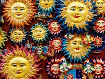 Sicilian Italian Souvenir Ceramic traditional Sun royalty free stock image