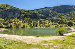 Sicilian lake Royalty Free Stock Images