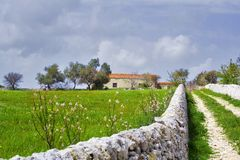 Sicilian Landscape. An isolated house in the country Royalty Free Stock Photography