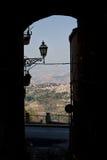 Sicilian landscape, city, Enna, Italy Stock Image