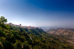 Sicilian landscape, Enna, Italy stock photo