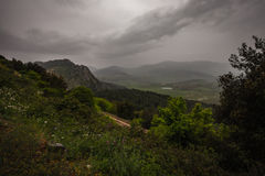 Sicilian landskap med mulna himlar Royaltyfria Foton