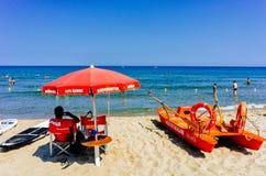 Sicilian lifeguard Stock Photo