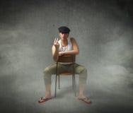 Sicilian man rude gesture Stock Image
