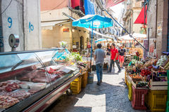 Sicilian market in Palermo Stock Photos