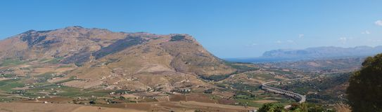 Sicilian mountainous countryside, Segesta, Sicily, Italy Royalty Free Stock Images